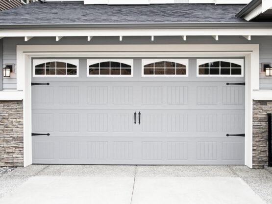 2 door garage with a loft above it